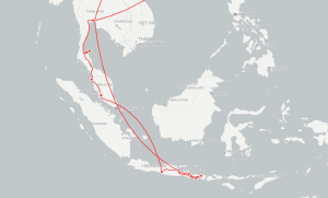 South East Asia Travel map